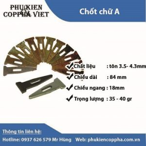 Chốt chữ A công ty Cốp Pha Việt