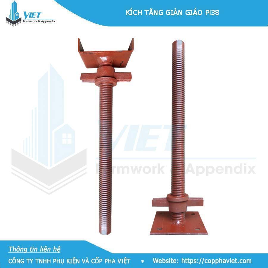 Kích thước kích tăng giàn giáo phổ biến là 500 mm