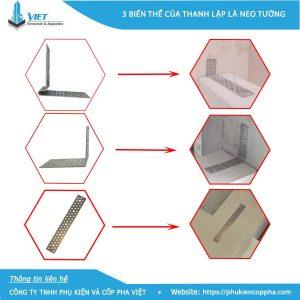 3 biến thể thường thi công của bát neo tường