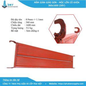 Trọng lượng mâm giàn giáo sơn - 9.2 kg