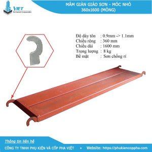 Trọng lượng mâm giàn giáo sơn - 8.0 kg
